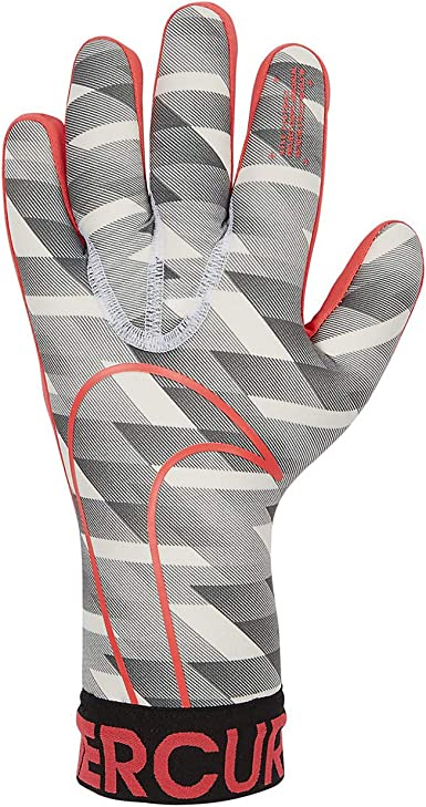 Dedicar Mejorar Docenas  Nike Goalkeeper Mercurial Touch Victory Gloves - White-Black-Crimson 9:  Amazon.co.uk: Clothing