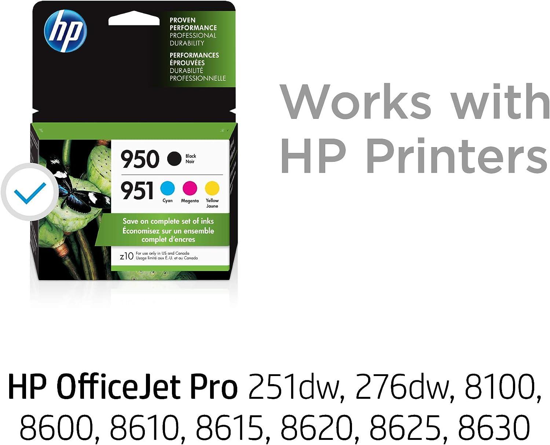HP 950 Black/951 Cyan/Magenta/Yellow 4-pack Original Ink ...