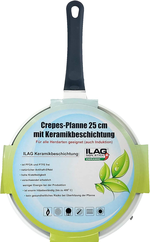 MaxxGoods Crepes-Pfanne 25cm mit Keramikbeschichtung