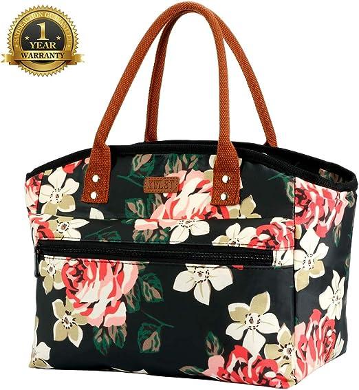 Women Lunch Handbag Waterproof Lunch Bento Box Bag Insulated Thermal Cooler New