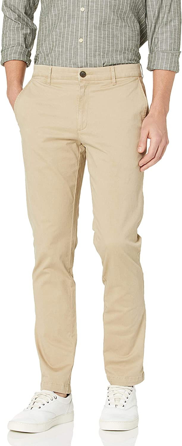 """Brand - Goodthreads Men's """"The Perfect Chino Pant """" Slim-Fit Washed Comfort Stretch: Clothing"""