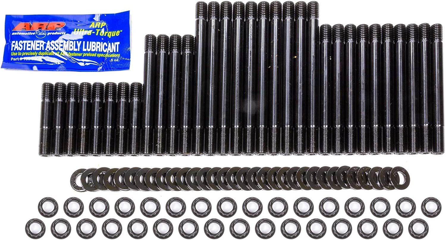 12 Point Nuts Big Block Chevy Black Oxide Cylinder Head Stud Kit 18 Degree Air Flow Research Chromoly