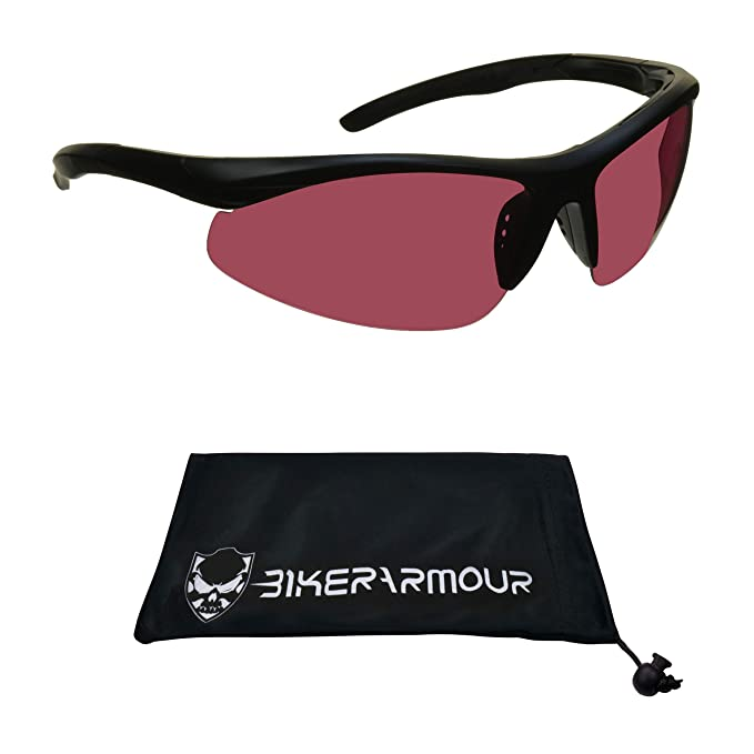 2b07bc675e25 Image Unavailable. Image not available for. Color  TR90 Polarized  Sunglasses Pink lens or ...