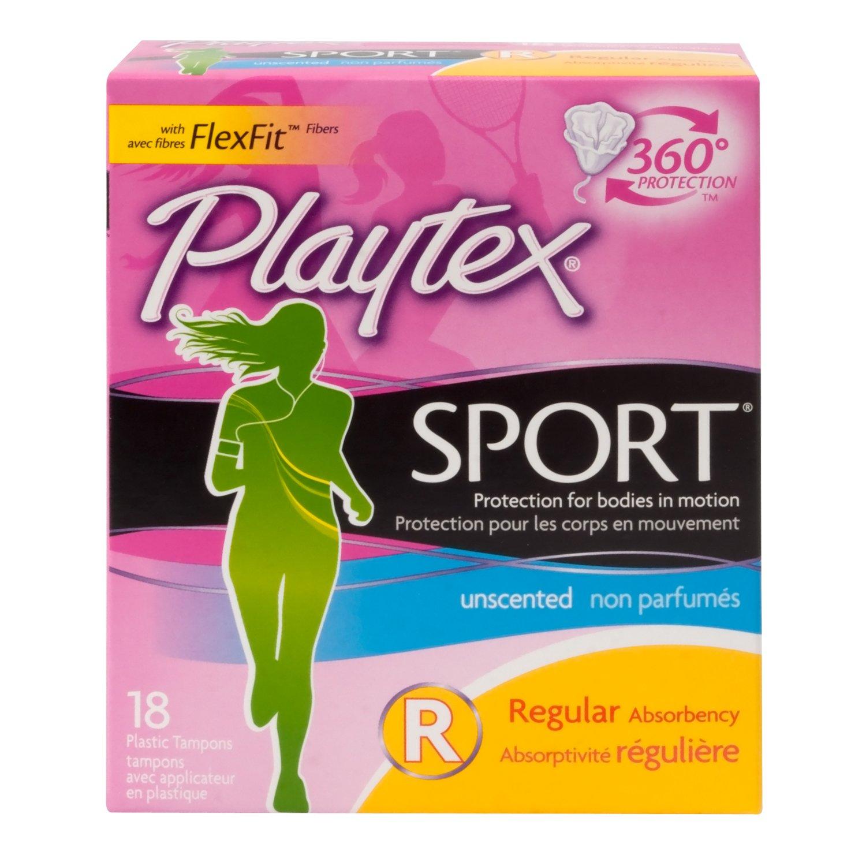 Playtex Playtex Sport Tampons Regular Unscented, Regular Unscented 18 each 08109