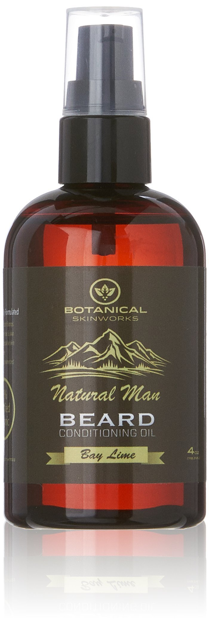 Botanical Skin Works Natural Man Bay Lime Beard Oil, All Natural Beard Conditioner, 4 oz.