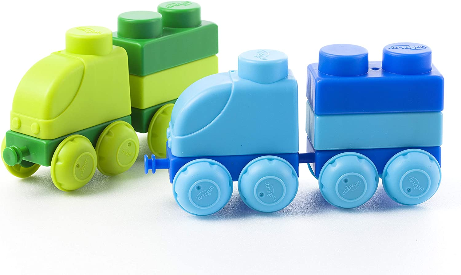 UNiPLAY Traffic Soft Building Blocks Truck Toys for Ages 3 Small Truck Set Toddlers and Kids Learn to Build and Move