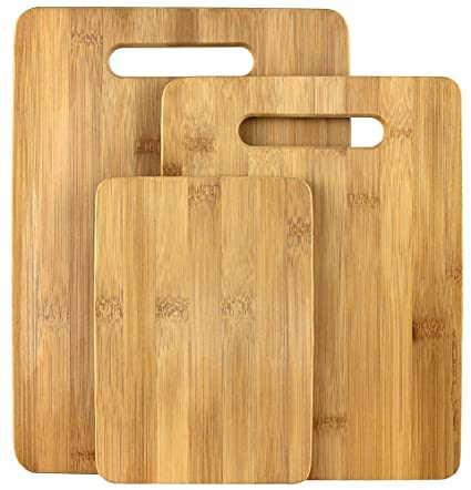 Amazoncom Estilo 3 Piece 100 Natural Bamboo Cutting Board Set
