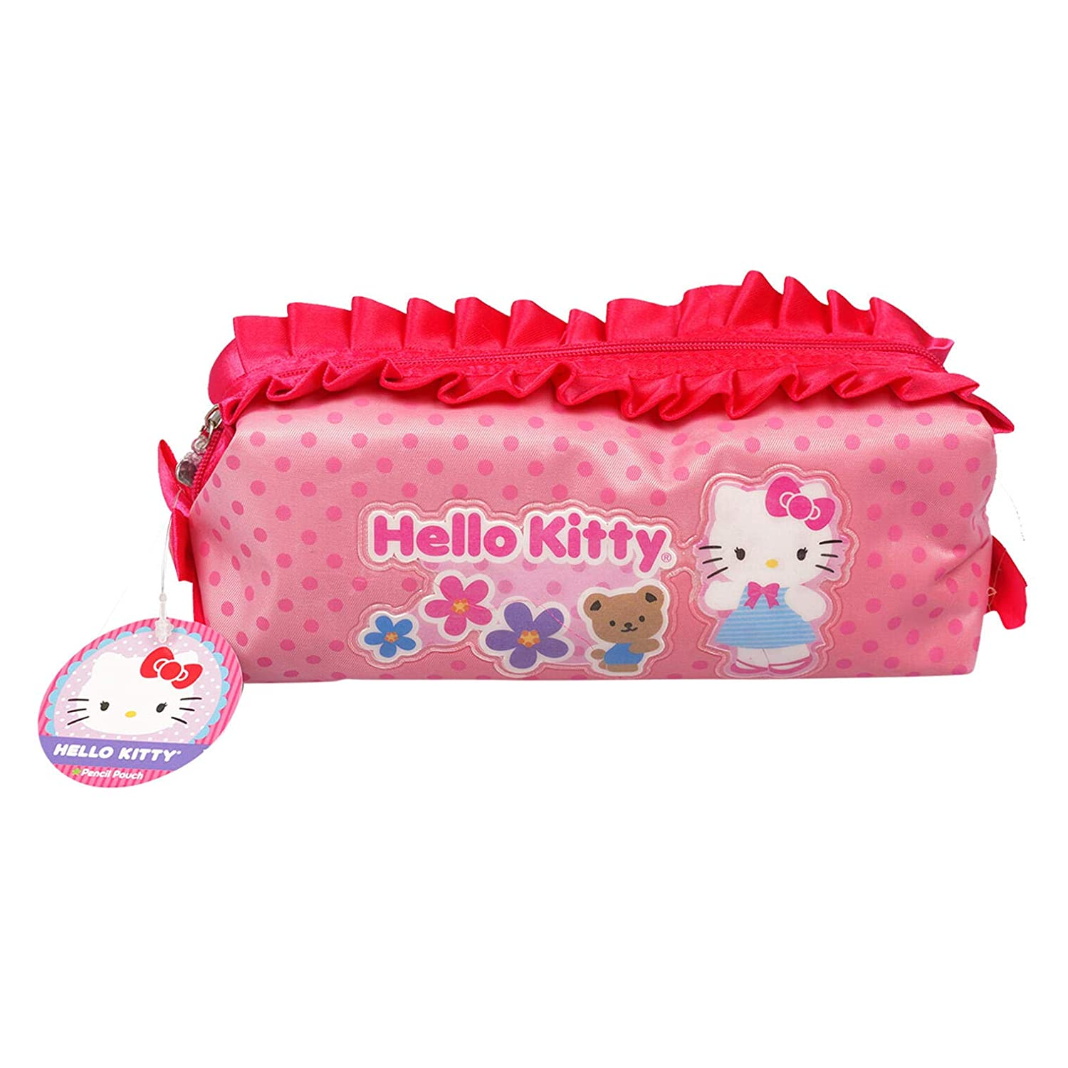 Hello Kitty Cosmetic Makeup Bag for Travel Brushes and Accessories, Great for Storing a Variety of Art, Pens, Pencils and Other Small Things