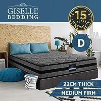Giselle Bedding Double Mattress 22cm Pocket Spring Foam Bed Mattress