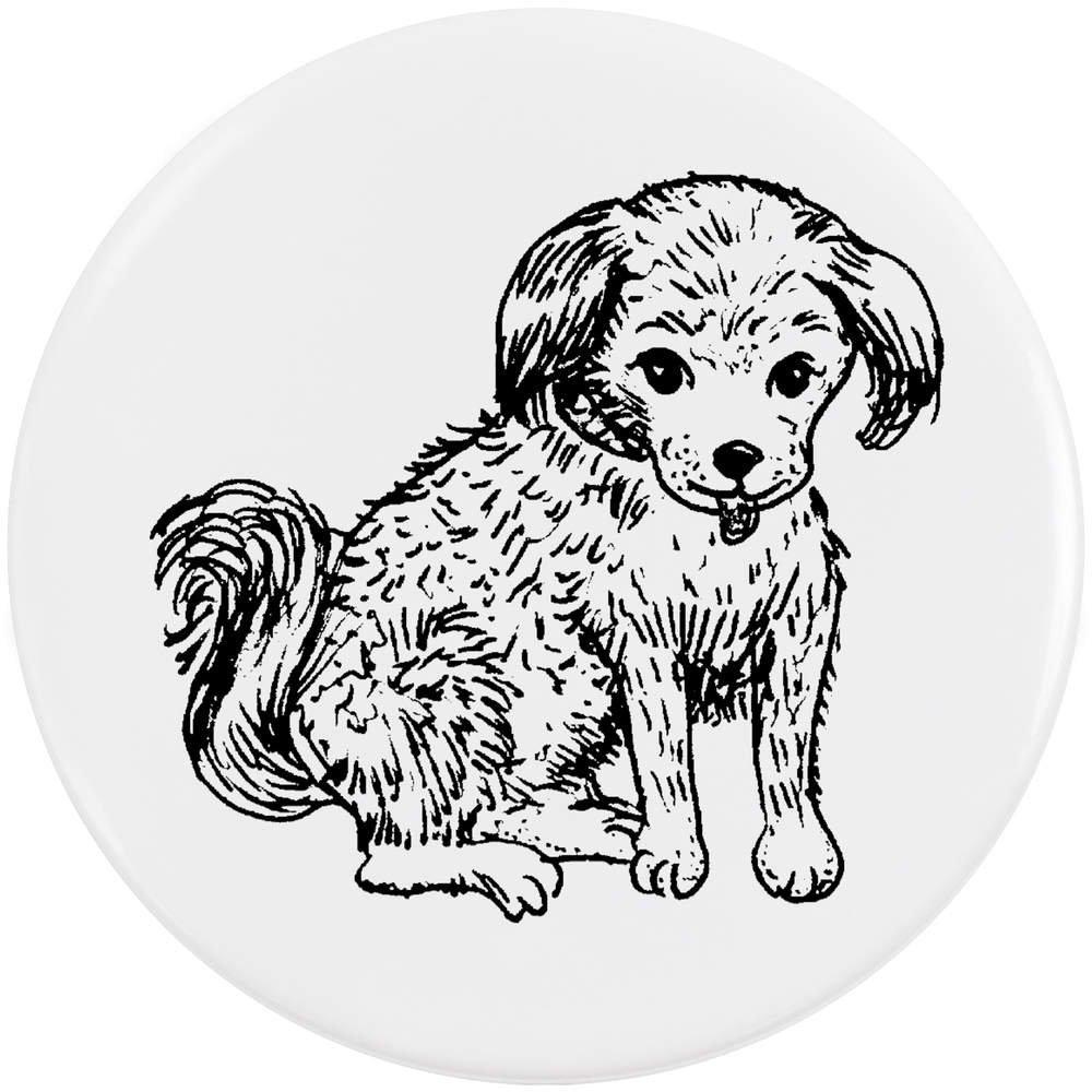 Azeeda 58mm 'Chiot' Bouton de Badge (BB00024095)