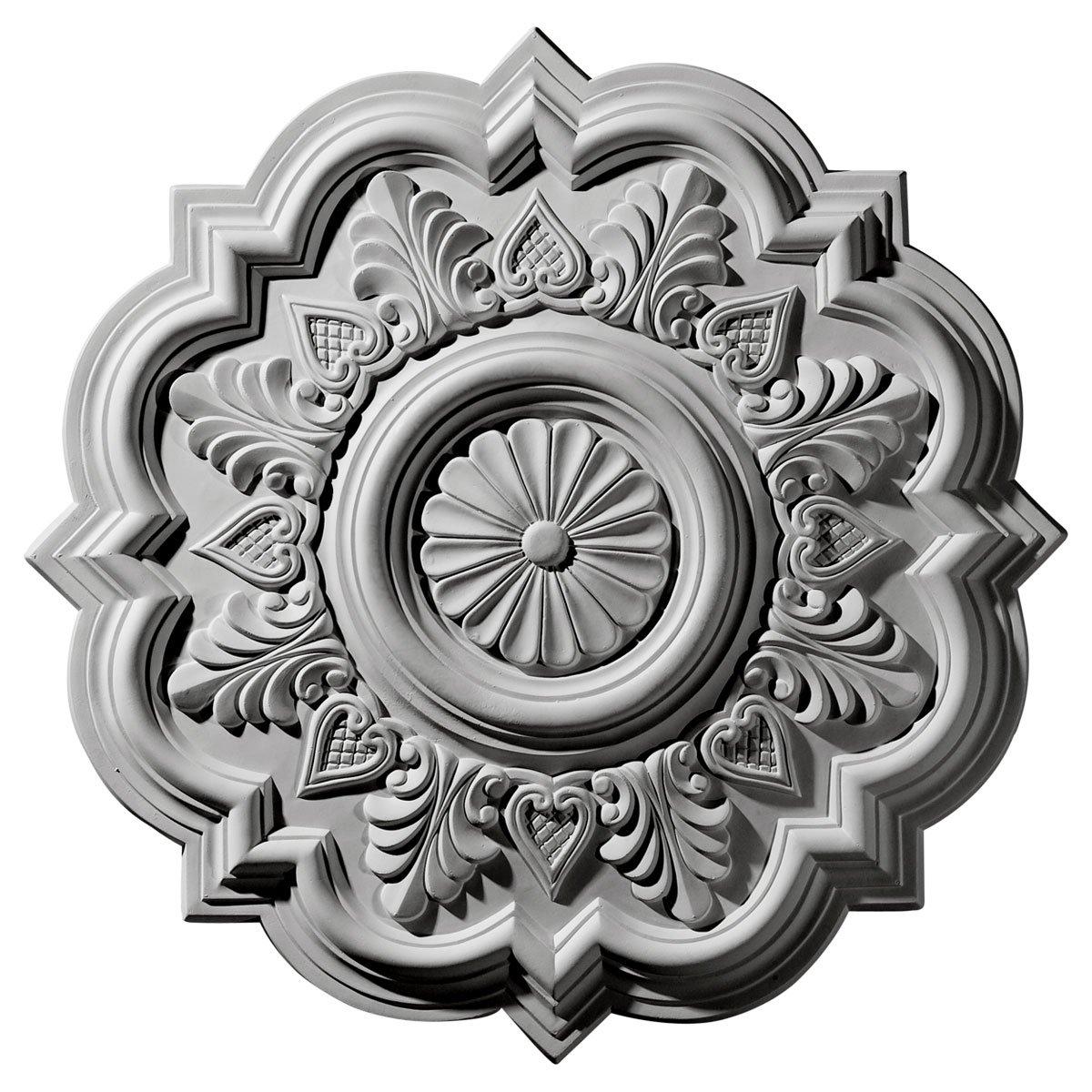 Ekena Millwork CM20DR 20 1/4-Inch OD x 5-Inch ID x 1 1/2-Inch P Deria Ceiling Medallion