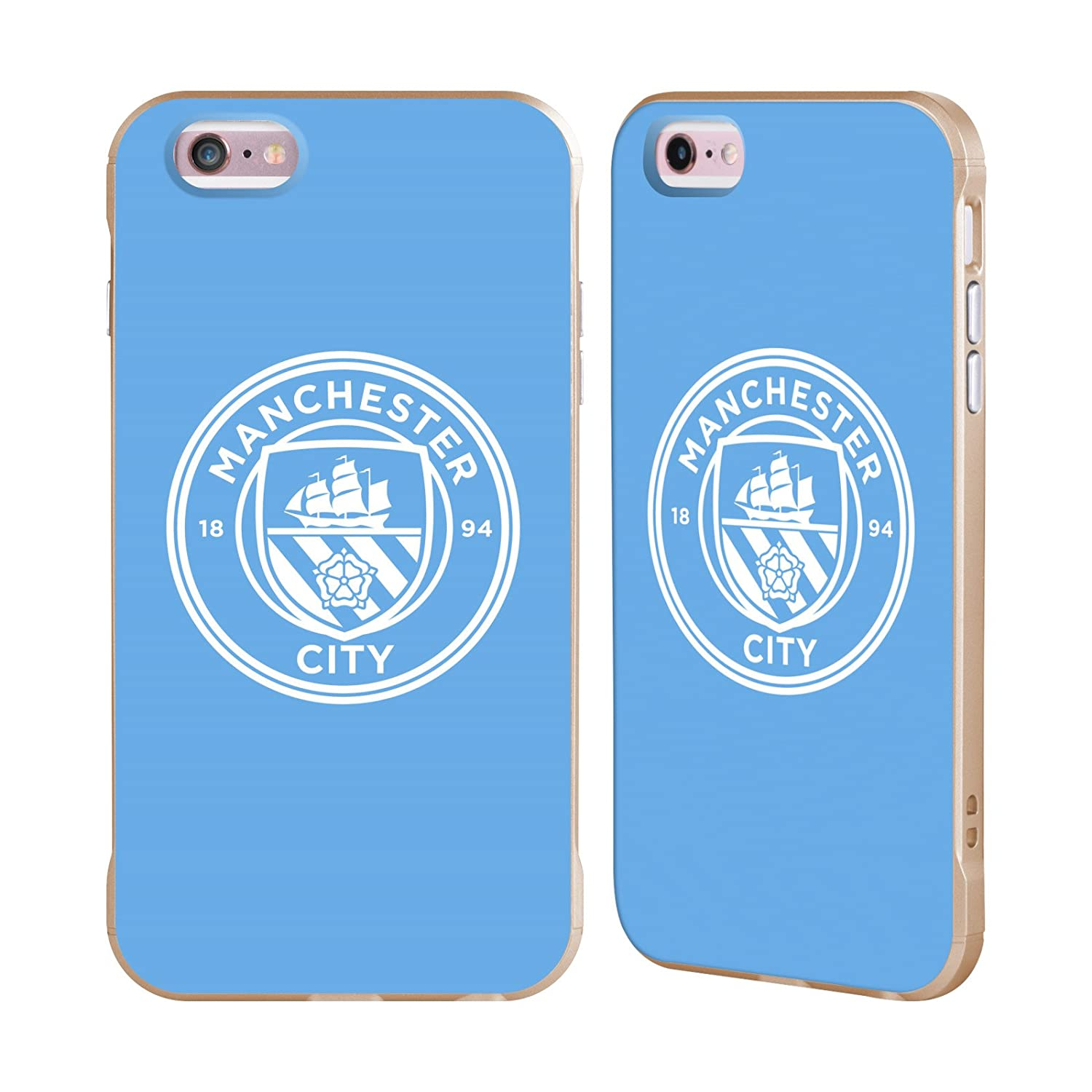 Amazon official manchester city man city fc blue white mono amazon official manchester city man city fc blue white mono badge gold fender case for apple iphone 6 plus iphone 6s plus cell phones accessories biocorpaavc