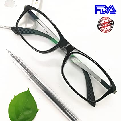 54ddc730a88 Computer Reading Glasses 1.5 Black - 2017 New EyeYee Blue Light Blocking  Reader Spring Hinge Anti