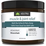 """MUSCLE & JOINT RELIEF"" - 100% Pure Dead Sea Bath Salts / Melt The Aches & Pains Away / Rich In Vital Healing Minerals / Organic Essential Oils of Eucalyptus, Peppermint & Clary Sage - 16oz"