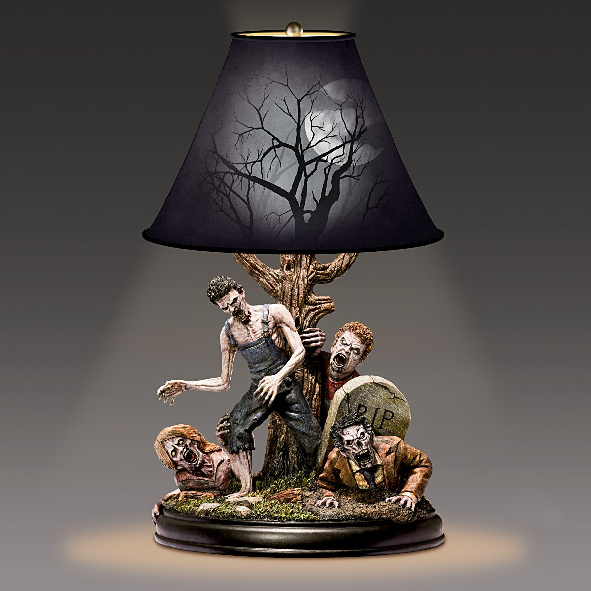 J Anthony Kosar Dead Of Night Sculptural Zombie Tabletop Lamp With Free CFL  Bulb By The Bradford Exchange     Amazon.com