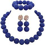 aczuv Nigerian Wedding African Beads Jewelry...