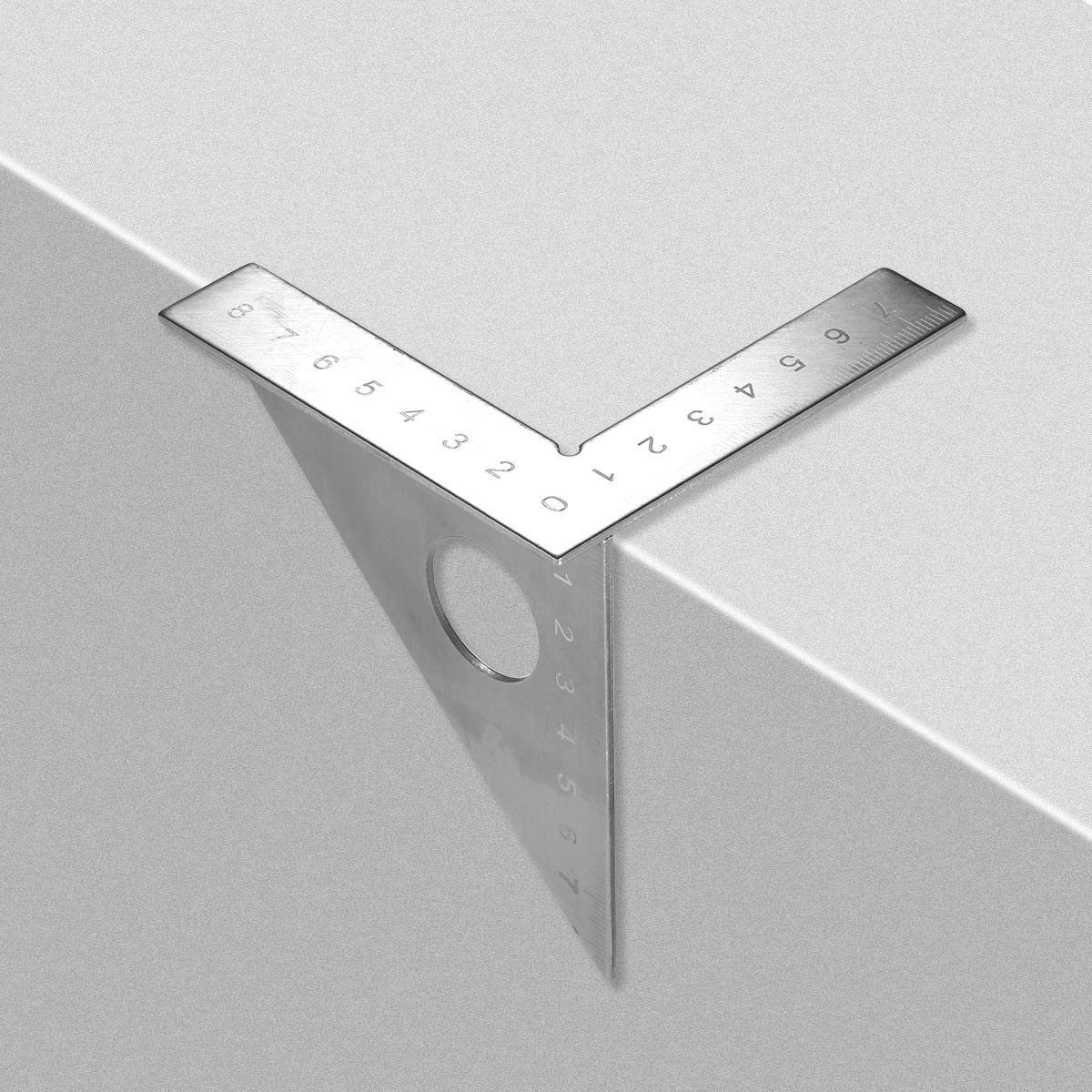 Woodworking Triangular Ruler Multi-functional Carpenters Rule 45/° 90/° Angle Square Angle Rule Mark Scraper Carpenters Marking Tool Three Edged Rule