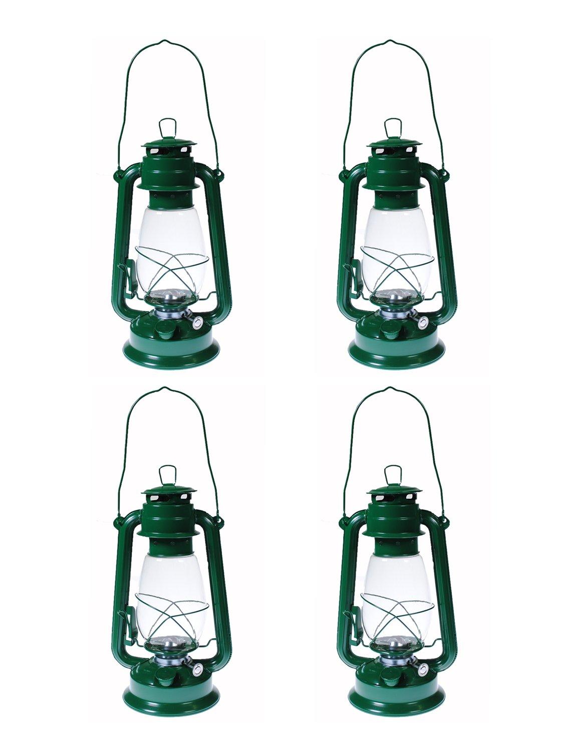 Shop4Omni S4O Hanging Hurricane Lantern/Elegant Wedding Light/Table Centerpiece Lamp - 12 Inches (4, Green)