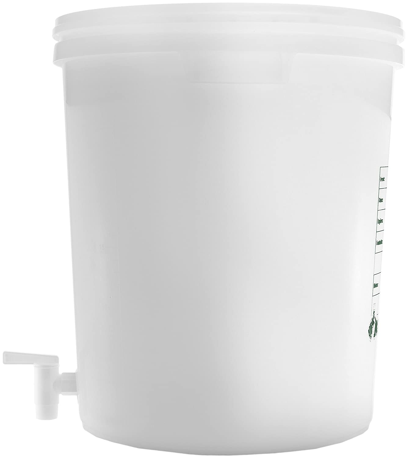 Round White Plastic Beverage Dispenser Cater Strong 6 gal