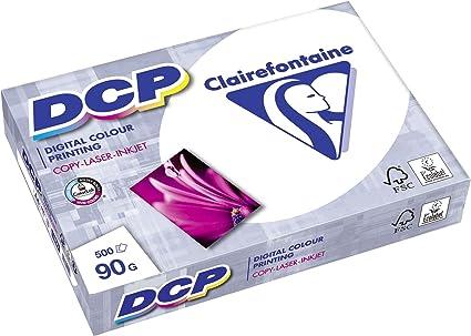 Clairefontaine - Pack de hojas, Blanco, A4, 500 hojas, 90 g/m2 (Premium): Amazon.es: Oficina y papelería
