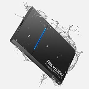 HIKVISION Elite 7 External Portable SSD 1TB - Up to 1060MB/sUSB-C, USB 3.2 Gen 2, with Hi Backup and Hi Security Ultra-Thin 8mm - External Solid State Drives (Night Black)