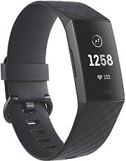 Fitbit Fitness Bracelet Charge 3, Black Graphite Aluminum