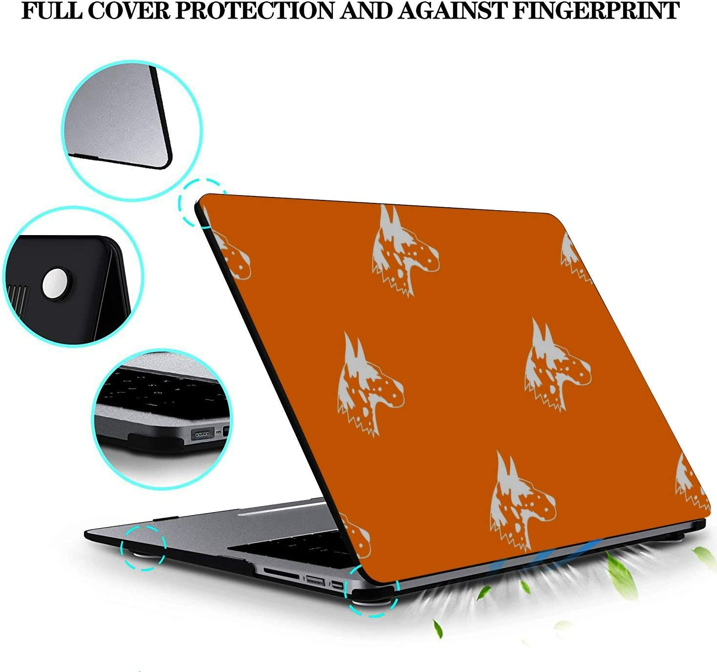 Cover MacBook Air Smart Fierce Animal Pet Great Dane Plastic Hard Shell Compatible Mac Air 11 Pro 13 15 Computer Case Protection for MacBook 2016-2019 Version