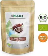 BioNutra Kakao-Nibs Bio 1000 g, Kakaostücke, gebrochene Kakaokerne (Criollo Bohnen) aus kontrolliert biologischem Anbau.