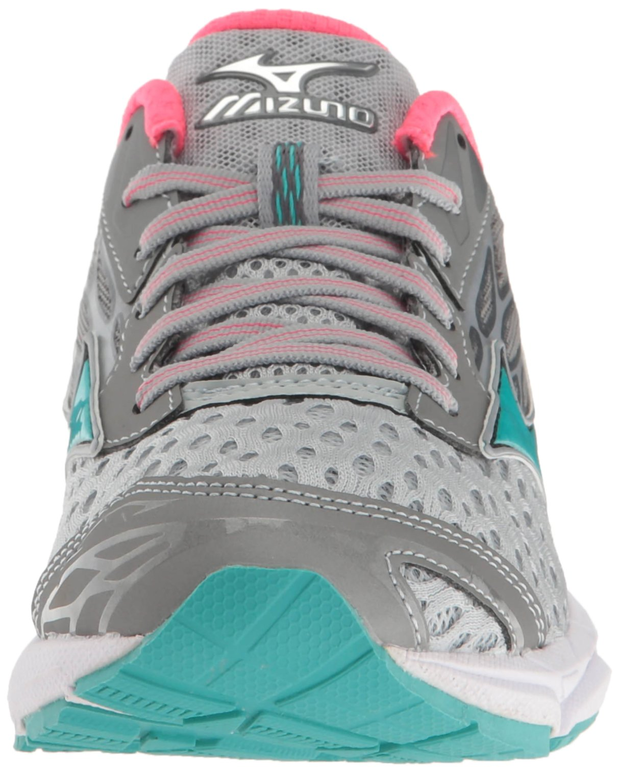 Mizuno Women's Wave Catalyst 2 Running Shoe, Grey/Mint, 9 B US by Mizuno (Image #4)