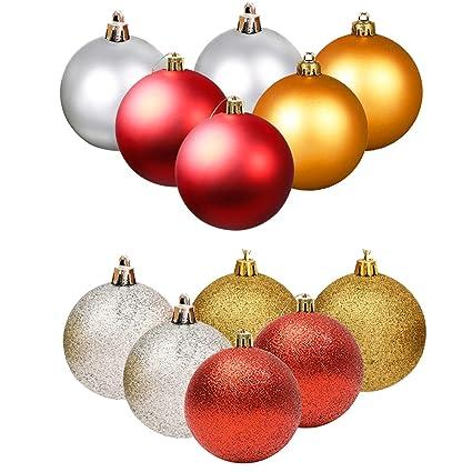 4 Gold Christmas Ornaments Balls 4 Silver Christmas Balls 4 Red Christmas  Ball Ornaments Bulk Glitter - Amazon.com: 4 Gold Christmas Ornaments Balls 4 Silver Christmas