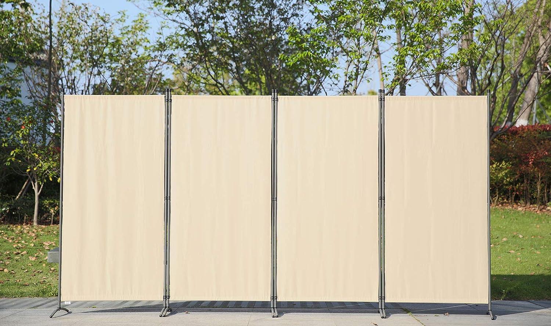 S/éparateur de Pi/èce Pliant S/éparateur de Pi/èce Beige D/écor /Él/égant Angel Living Grand Paravent /à 4 Panneaux 333X170 cm