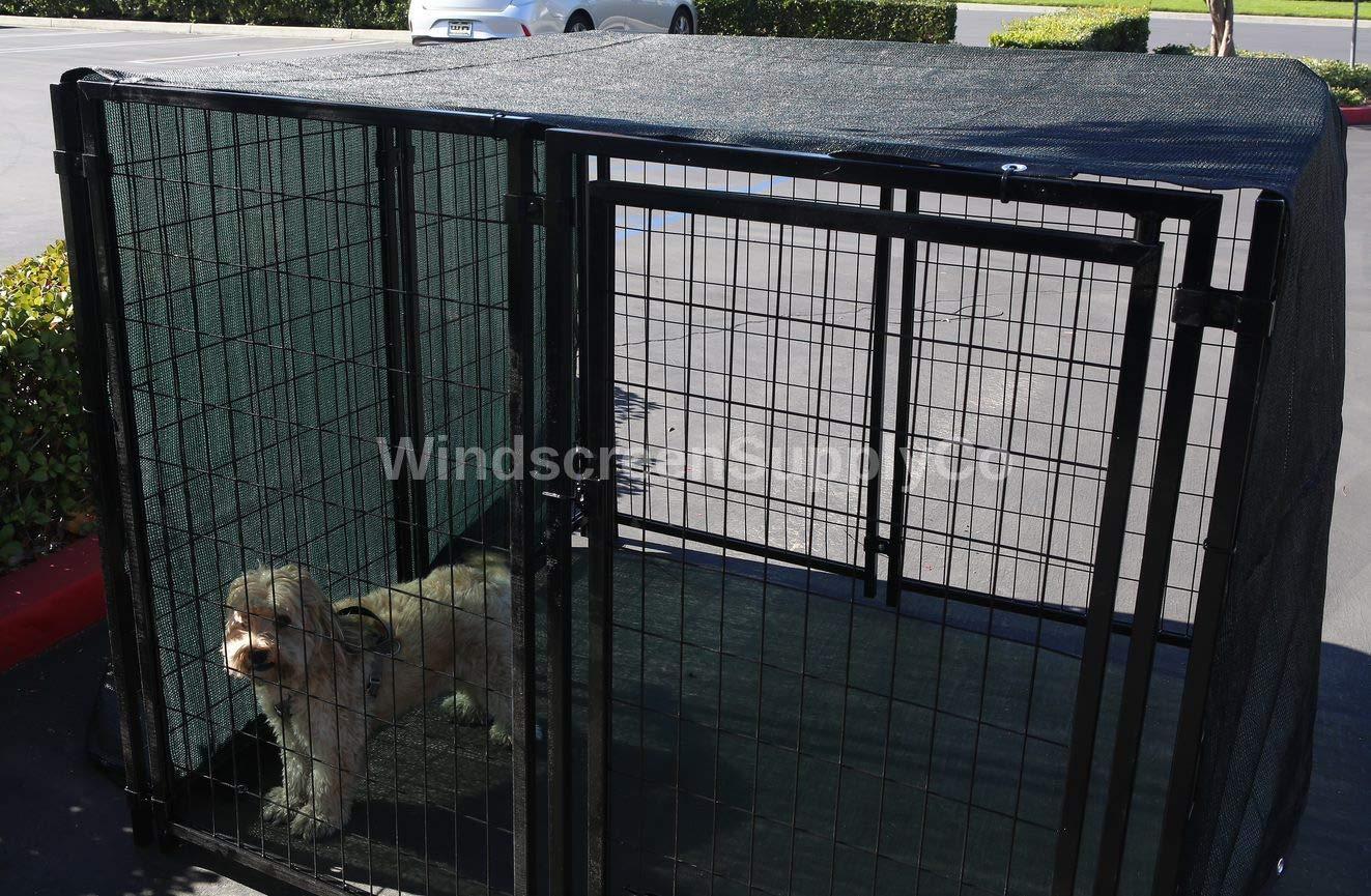FenceSmart4U 8' X 10' Dark Green UV Rated Dog Kennel Shade Cover, Sunblock Shade Panel, Shade Tarp Panel W/Grommets (Not the kennel) by FenceSmart4U