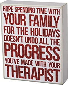 Primitives by Kathy Box Sign - Spending Time with Your Family Holidays