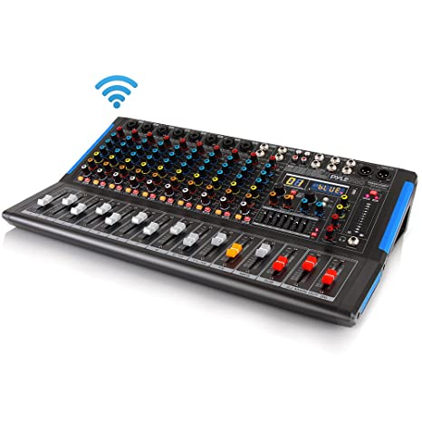 Amazon.com: Mezclador de audio de estudio con Bluetooth ...