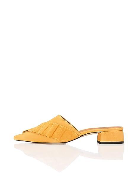 FIND Zapatos Tacón Bajo Mujer  Amazon.es  Zapatos y complementos 351e444647f8