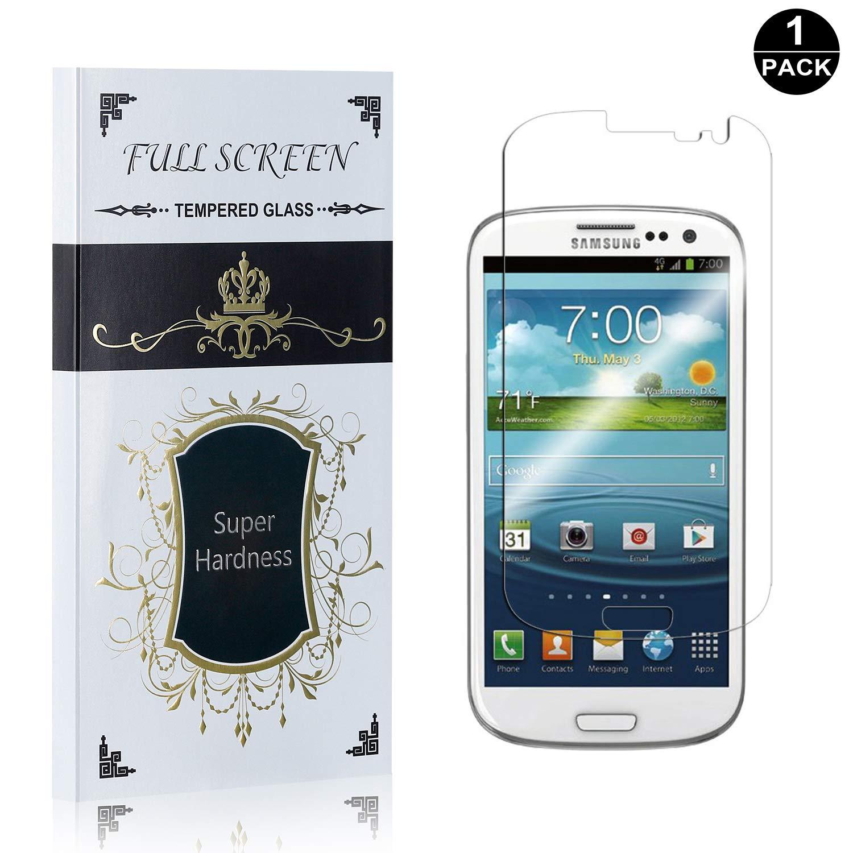 Easy Install Galaxy S3 Screen Protector Anti-Fingerprint 1 Pack UNEXTATI Premium HD Tempered Glass Screen Protector Film for Samsung Galaxy S3