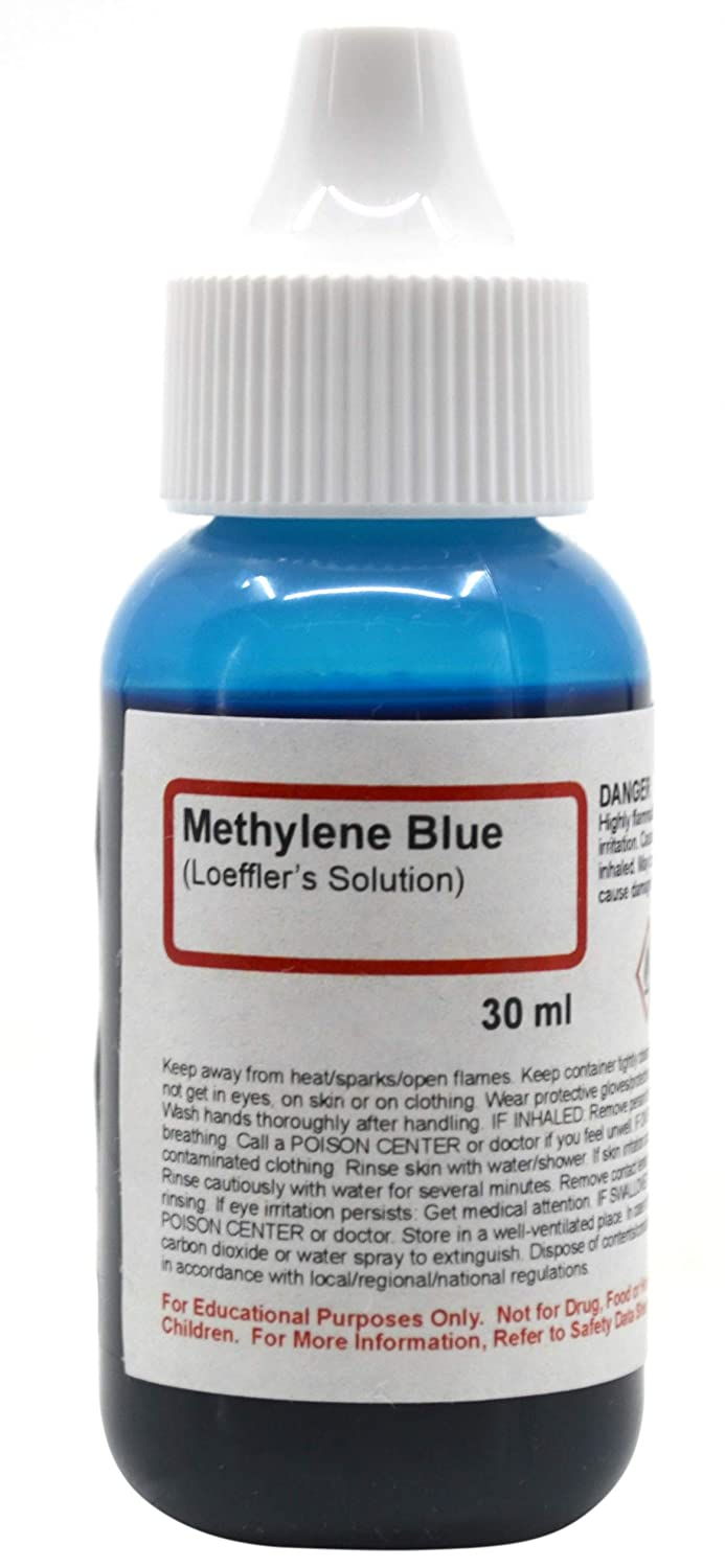 Methylene Blue (Loeffler's) Solution, 1 fl oz (30mL) - The Curated Chemical Collection