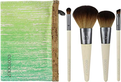 Ecotools Brush Set de 4 Brochas y Neceser - 1 Pack: Amazon.es: Belleza