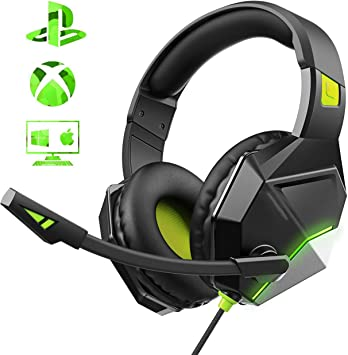 Mpow Iron Gaming Headset, 7.1-Surround Gaming Auriculares con ...