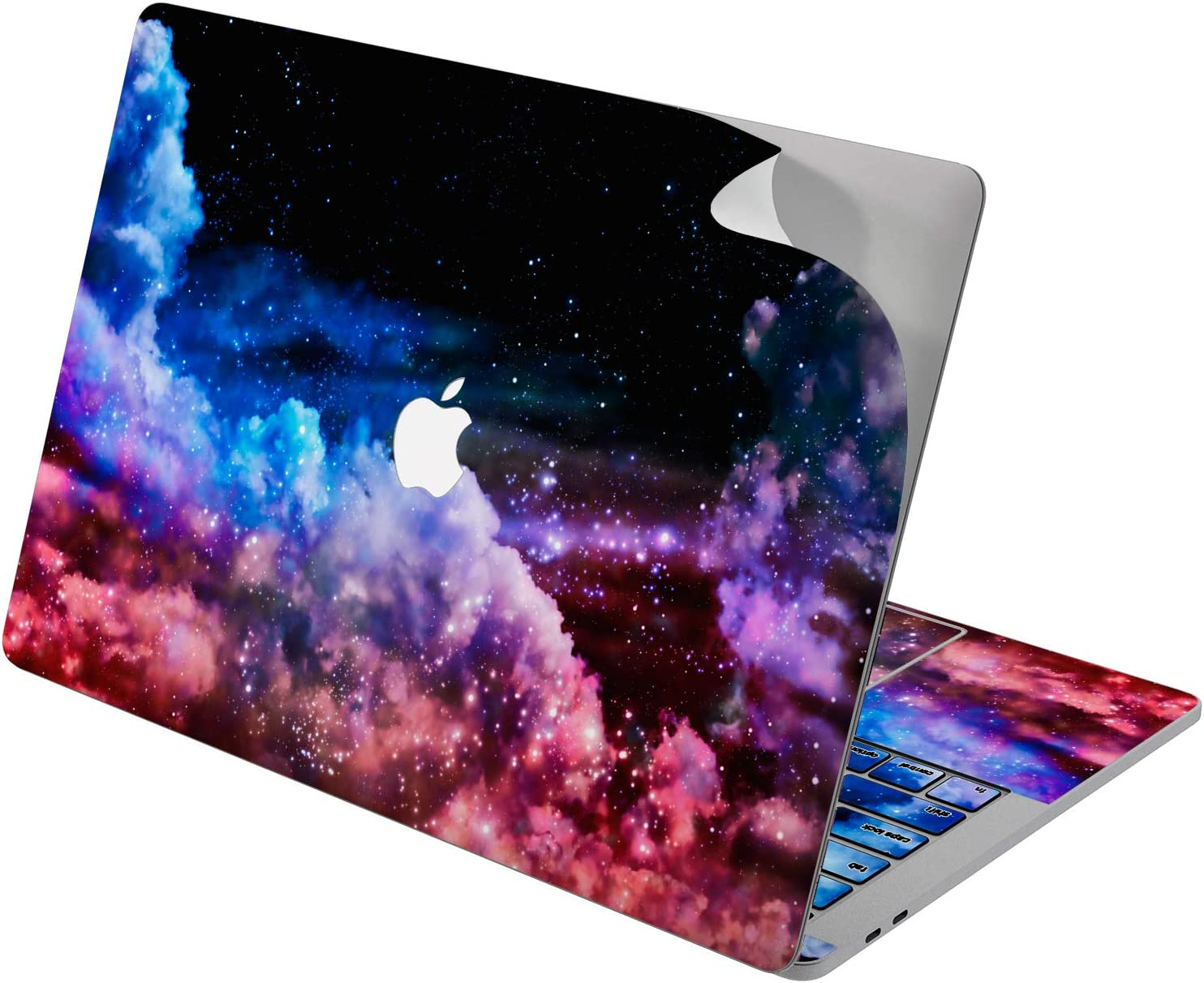 "Cavka Vinyl Decal Skin for Apple MacBook Pro 13"" 2019 15"" 2018 Air 13"" 2020 Retina 2015 Mac 11"" Mac 12"" Stars Sticker Colorful Clouds Sky Laptop Protective Print Pattern Galaxy Design Beautiful Cover"
