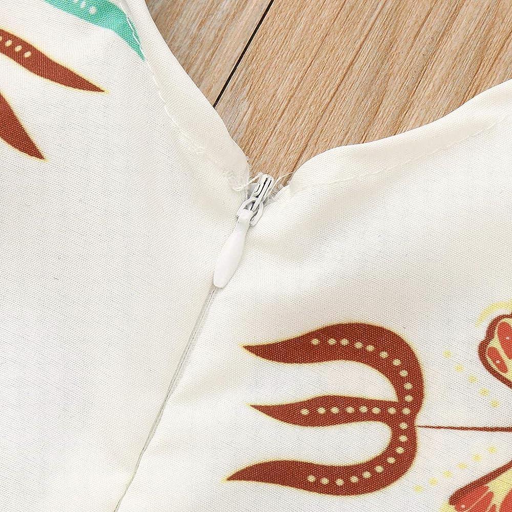 YWLINK Conjuntos NiñA, Verano Mezcla De AlgodóN Estilo Nacional Ropa Infantil del Mono del Mameluco del Estampado Africano Sin Mangas+Banda De Pelo Conjunto De 2 Piezas La Moda(Blanco, 2-3 años/90): Amazon.es: Ropa