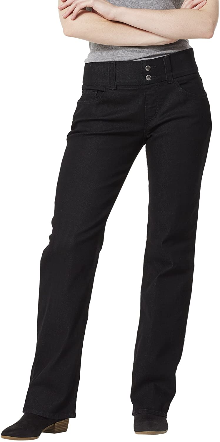 Riders by Lee Indigo Women's Pull On Waist Smoother Boot Cut Jean