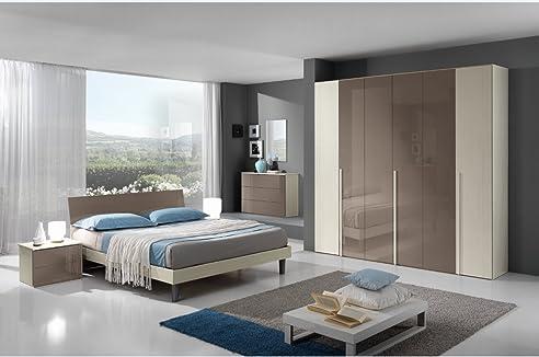 Schlafzimmer moderne Flavia in Essenza Lärche Creme und lackiert ...