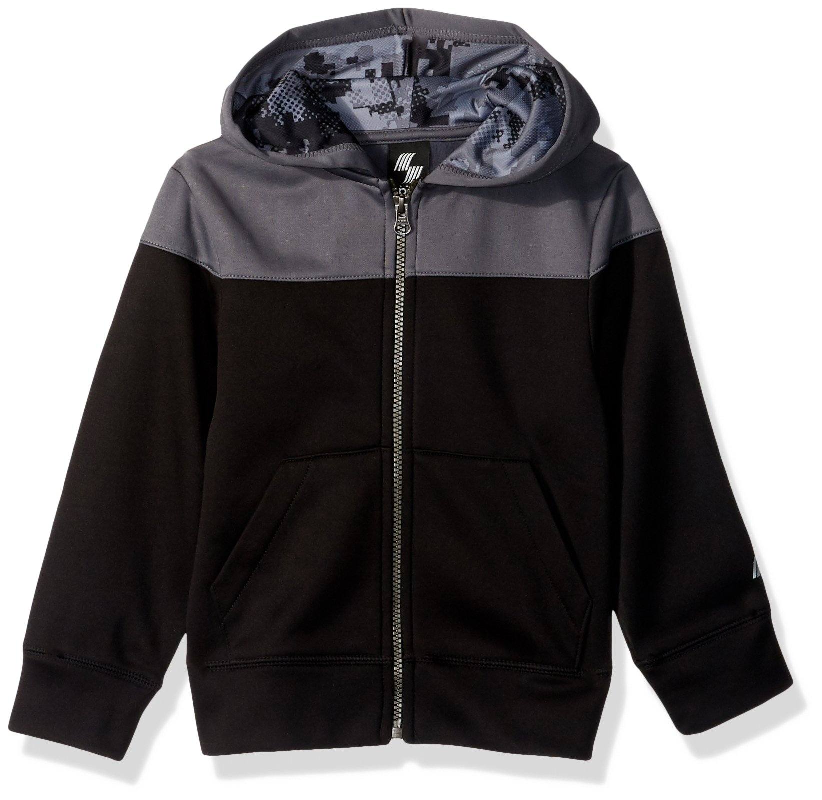 The Children's Place Big Boys' Synthetic Hoodie, Black, M (7/8)