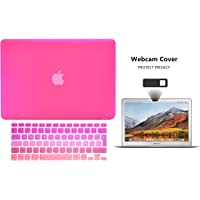 Protector Funda Case para Macbook + Protector Skin Cover de Teclado en Español + Webcam Cover AntiSpy Rosa Degradado Macbook Air 13'' Model: A1369 / A1466