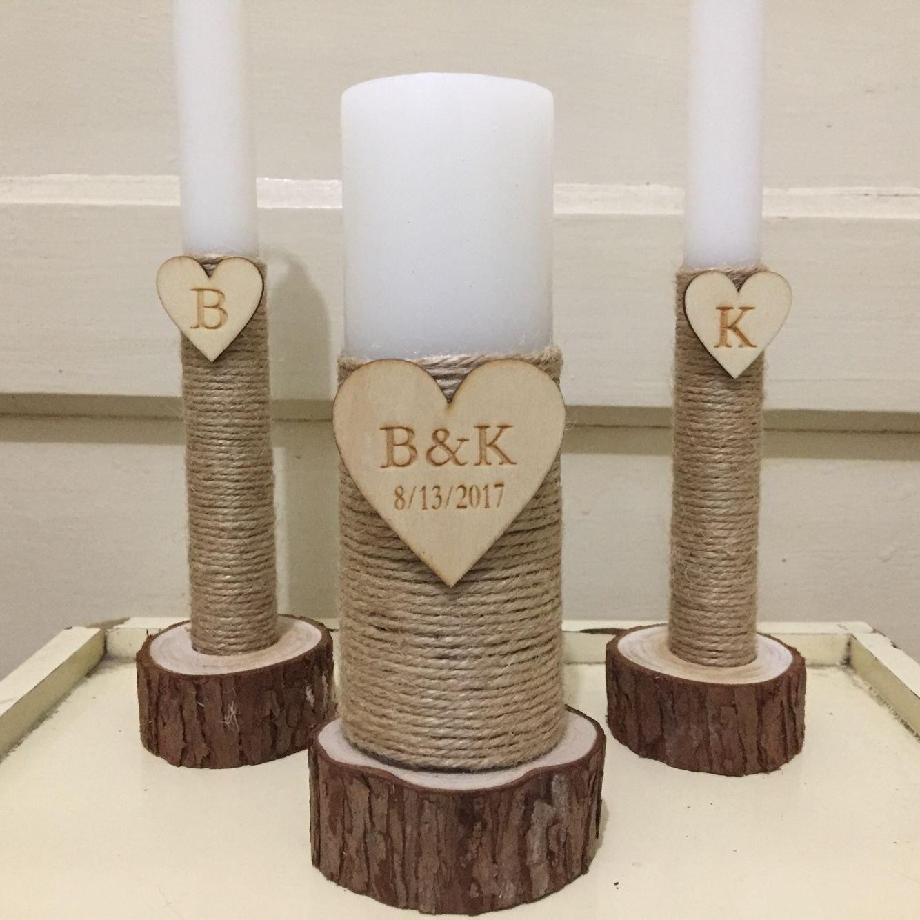 Amazon Custom Initials And Date Wedding Candles Set Wedding