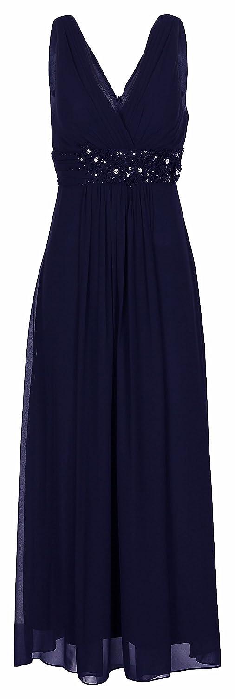 Lautinel Women's A-Line Dress Blue Navy blue