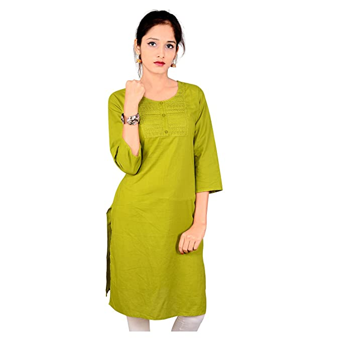 Indian Women's Plain Cotton Kurti Top