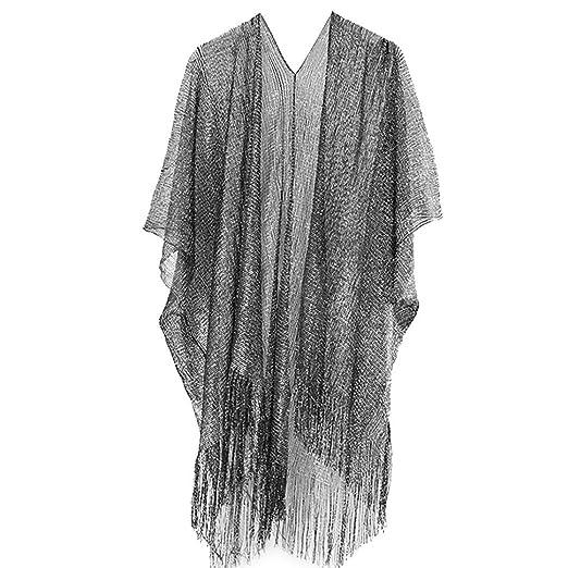 c68b34d035 RNTop® Women's Kimono Cardigan, Woman Ladies Solid Tassel Bikini Shawl  Cardigans Top Beachwear Bikini