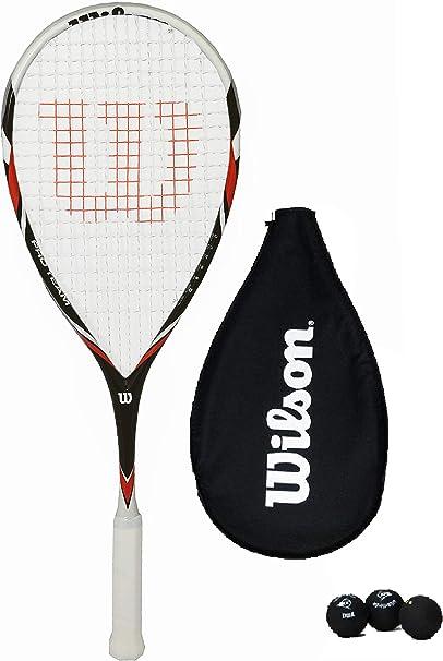 Wilson Pro Team Raqueta De Squash + 3 Pelotas De Squash: Amazon.es ...
